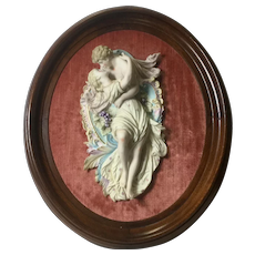 Porcelain Plaque Of Lovers