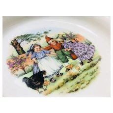Beautiful Victorian German Cereal Dish with Children Design.