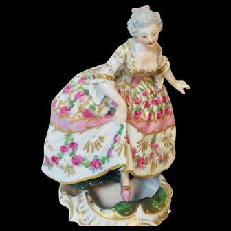 Royal Vienna Porcelain Dancing Woman Novelty Mens Naughty!