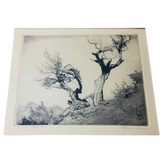 Lyman Byxbe Original Etching, Large size