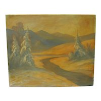 Dave Sterling Painting of Trees and Mountains