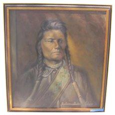 Native American Warrior - Signed Colvin