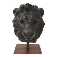Lion Bust Sculpture Signed by Ken Bunn