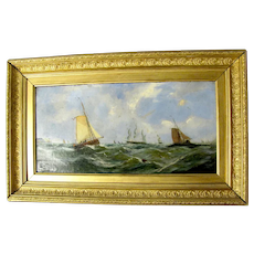 Ship Oil on Canvas Painting