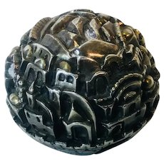 Jerusalem m 925 Silver Paperweight, signed