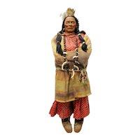 Pair of Native American SkooKum Dolls Store Display