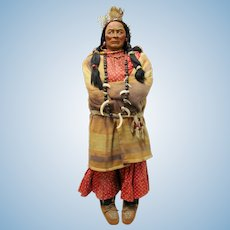Pair of Native American SkooKum Dolls