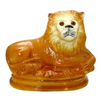 Staffordshire Lion Figurine