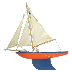Star Pond Yacht Sailboat Painted Wood Hull Made in England