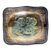 English Leather Cased Sterling Silver Covered Box