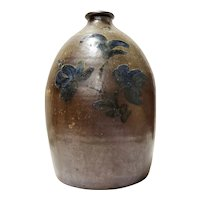 Stoneware Hand-Decorated Jug