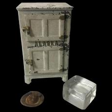 "Antique Toy Cast Iron ""Alaska"" Refrigerator"