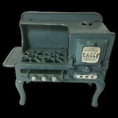 """Antique Cast Iron Toy Stove """"Eagle"""""""