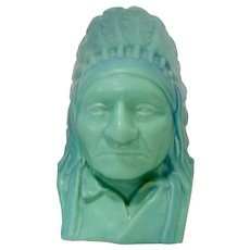 Van Briggle Indian Bust