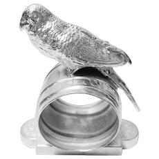 Victorian Silver Plate Bird Napkin RIng