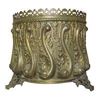 Victorian Brass Planter