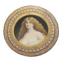 Vienna Art Tin Portrait Plate