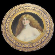 Vienna Art Tin Portrait Plate