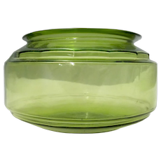 Depression Glass Vintage Fish Bowl