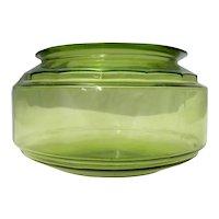 Vaseline Glass Vintage Fish Bowl