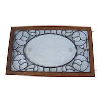 Victorian Beveled Glass Window with Unusual Bevels