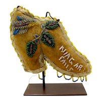 Whimsey Native American Iroquois Niagara Falls Beaded Boot #1