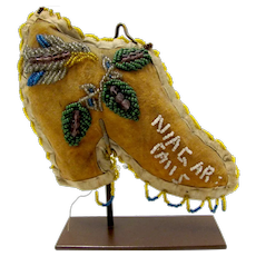 Whimsey Native American Iroquois Niagara Falls Beaded Boot #1