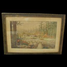 William Peaco Watercolor South Dakota Indian