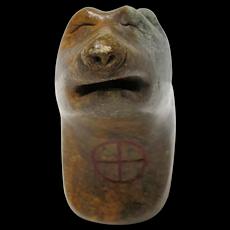 Alaskan Eskimo Stone Wolf Spirit Carving