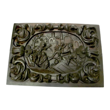 Hand Carved Wooden Spaniard Plaque #2