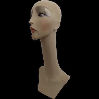 Vintage 80's Long Neck Mannequin Jewelry Head