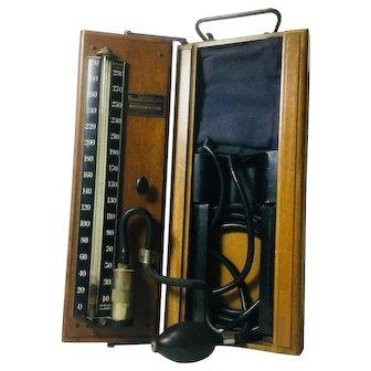 "Antique ""Lifetime Baumanometer"" Stethoscope, Cabinet Model"