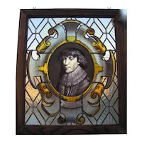 Hand Painted Stained Leaded Glass Window PortraitOf Christian Of Braunschweig