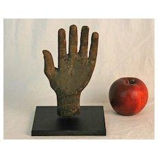 Folk Carved Wooden Hand