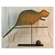 Swell Bodied Beaver Weathervane