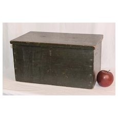 19th Century Green Painted Instrument Box