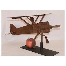 1920's Sheet Metal Airplane Weathervane