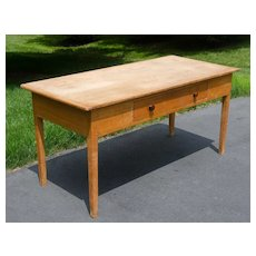 19th Century Pine Farm Table