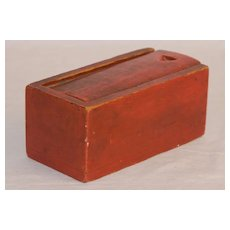 Diminutive Slide Lid Box in Red Paint