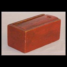 Diminutive Slide Lid Box in Red Paint