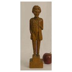 Folk Carved Abraham Lincoln Statue