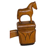 Horse and Bear Carved Ceremonial Gavel