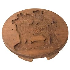 Carved Wooden Cheese Mold