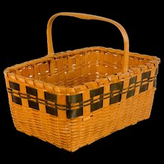 Native American Woodlands Gathering Basket