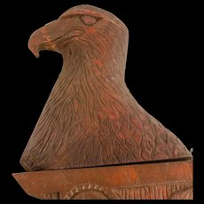 Carved Eagle's Head Architectural Element