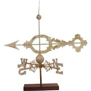 Large Copper Church Scroll Banner Weathervane