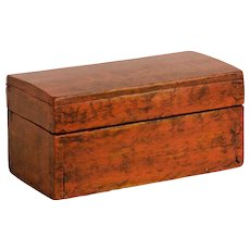 Early Dovetailed and Painted Trinket Box