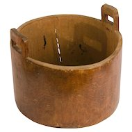 Large Early Wooden Bucket