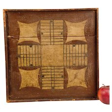 19th Century Parcheesi Board