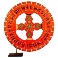 Painted Wooden Carnival Wheel